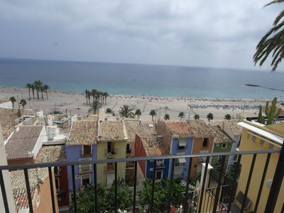 Photo for Penthouse with sea views on the wall of the old town of Villajoyosa