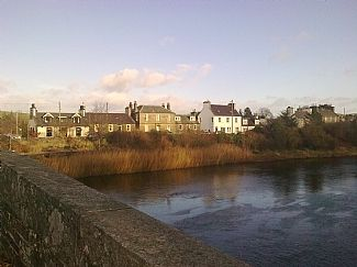 View of house across the river