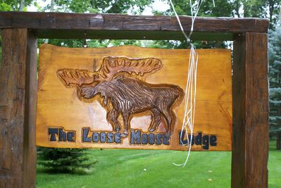 The moose greets guests and visitors