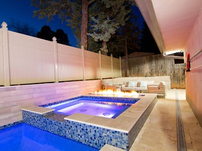 Photo for Uptown Luxury Pool Home, Walk to Town, Red Rock Views, Firepit, Large Loft