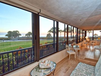 Photo for Gulf & Bay Club - Siesta Key, 3 Bedroom, Beachfront Condo, 1st Floor, with Patio