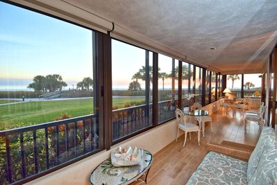 Lanai off off living/ family and dining room. Spectacular view of beach!