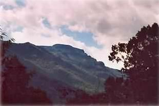 View of Grandfather Mountain from hot tub or front porch
