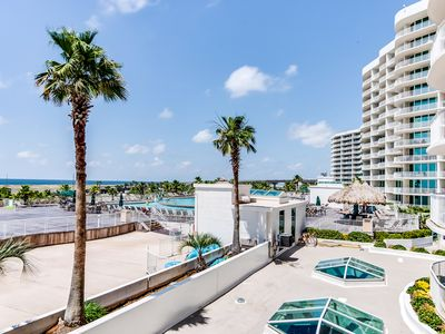 Photo for New Listing! Lovely condo near beach w/shared pool, hot tub, and lazy river!