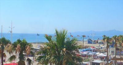 Photo for Canet beach center, F2 48 sqm very well located and bright, sea view, 50 m beach
