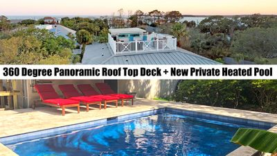 NEW PRIVATE POOL! STEPS TO THE BEACH! 360-DEGREE VIEWS! MULTIPLE LIVING SPACES!