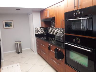 Modern Kitchen cook top wall oven wall microwave