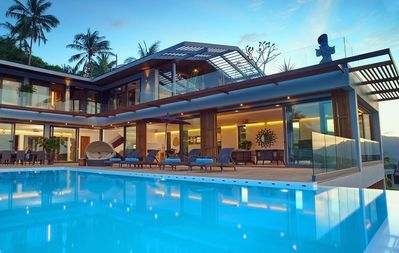 Photo for 9 Br Sea View Villa Blue ~ 5* with staff