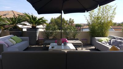 Photo for NEW APARTMENT CLIMATISE on ROOF with TERRACE SOLARIUM 135m2
