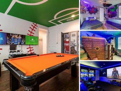 Photo for Enjoy Family Fun at Large Reunion Villa with Cinema, Arcade and Theme Rooms.
