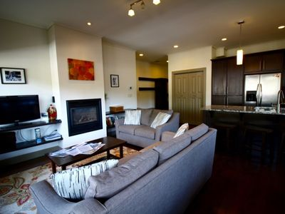 Photo for Lux Downtown Condo - Covered Deck, BBQ, Gas Fireplace