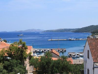 Photo for Two bedroom apartment with balcony and sea view Sali, Dugi otok (A-8174-b)