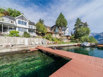 Photo for Lakefront home w/ stunning views, three decks, waterfront patio, & dock!