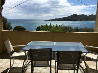 Photo for Faounzina n ° Dupplex, 6 pers, 1st floor superb sea view, direct access to the beach
