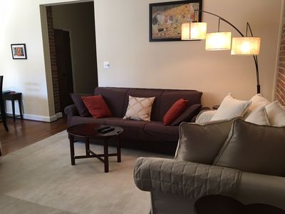 Cozy living area with new furnishings.