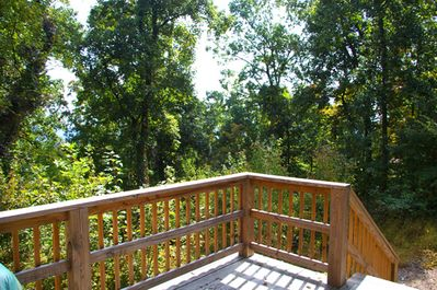 Deck with beautiful wooded views