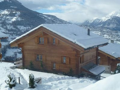 Photo for 4*, 5-bedroom chalet for 10 people situated 800m from the ski slopes in a peaceful and sunny place.