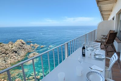 Have lunch enjoying the nice views of the mediterranean.