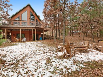 Photo for Gorgeous home w/ shared docks and lake access - spacious deck and firepit!