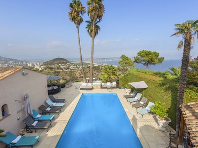 Photo for Cannes Mandelieu/Theoule border Lovely 6-Bed Villa