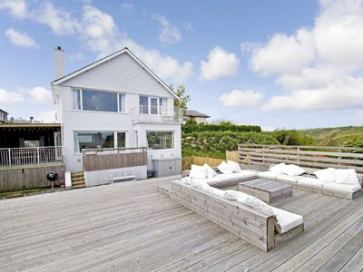 Photo for Abersoch centre - Large family 5 Bed house with sea views, 300m from the beach