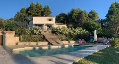 Photo for Comfortable villa in a quiet area, close to the village, shops and restaurants