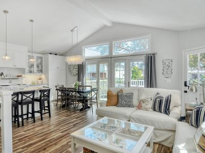 Photo for NEW LISTING! Remodeled cottage w/hot tub, outdoor living area, wrap-around deck