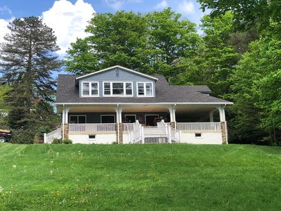 Photo for Beautiful Chautauqua lakefront home with expansive yard and private dock