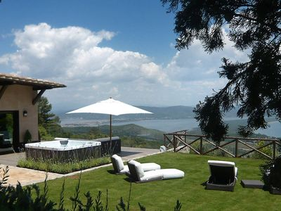 Photo for Design villa with panoramic sea view