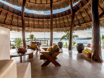 Photo for Private Oceanfront Luxury Retreat in Troncones, 12 + Guests
