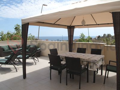 Photo for Stunning oceanview apartment Mojon Hills, Isla Plana