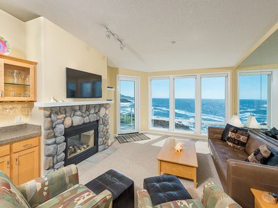 Photo for Only $170/Night** - Top Floor Executive Condo, Oceanfront Views, w/ Fireplace