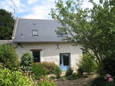 Photo for In the Saumur vineyard, house of character in tuffeau, calm and spacious