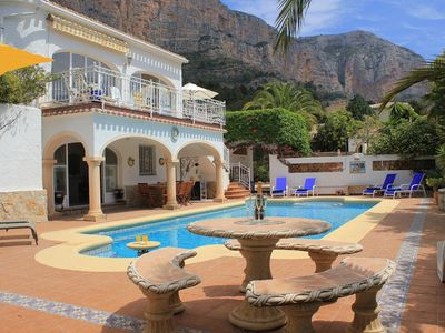 Photo for Beautiful spacious air conditioned Villa with fabulous views on Montgo Javea