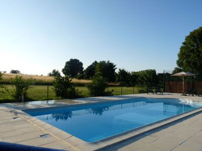 Photo for 3 bedroom villa with heated pool and tennis