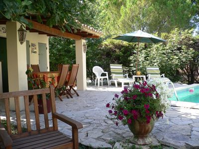 Photo for HOUSE VILLEVIEILLE, 5 PEOPLE + BABY, PRIVATE POOL MEDITERRANEAN GARDEN