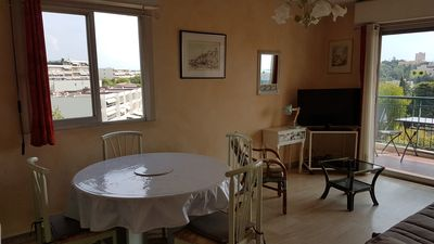 Photo for Charming T2 sea view in Antibes Juan-les-pins for 2 to 4 people