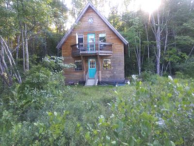 Photo for Quiet Maine Chalet with Private Beach on Little Sebago