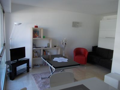 Photo for STUDIO 26 M2 + BALCONY 5 M2 on GARDEN, close BEACHES and CROISETTE