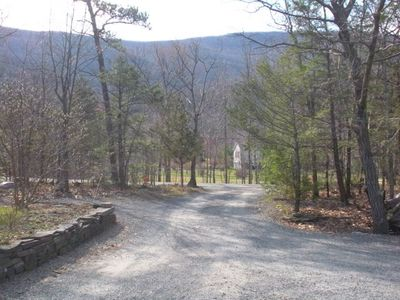 View of Overlook Mountain from front of house