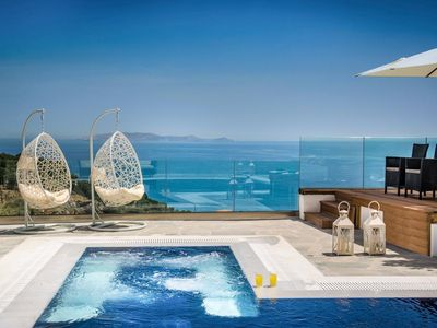 Photo for Villa Agapios holds a truly magnificent location on the beautiful island of Crete, its hilltop posit