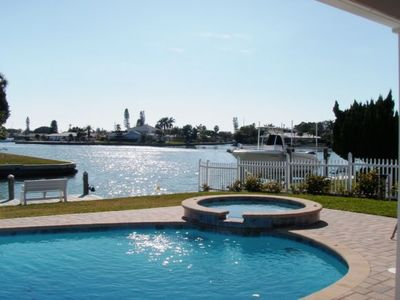 View of Bimini Bay from heated pool and spa