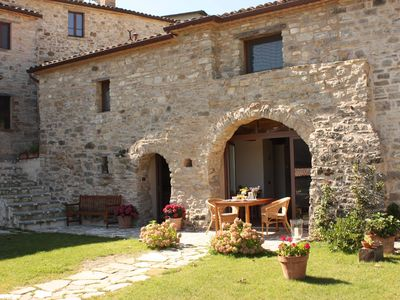 Photo for Rustic stone house in Romagna with panoramic terrace and free Wi-Fi