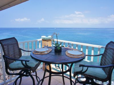 Photo for Summer Special! Two bedroom direct ocean front in Sea Village. $149 a night!