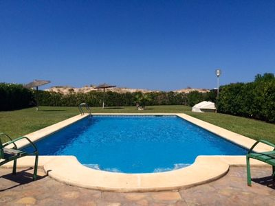 Photo for Frontline 2 Bed Apartment with 50sqm private terrace and Pool by the dunes