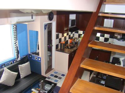 This is a loft floor unit with the 2 bedrooms on the upper floor!