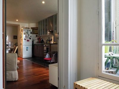 Photo for Apartment of character, bright spacious 57m2 courtyard ideal family / friends