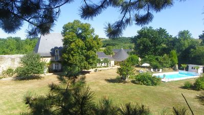 Photo for Angers-Saumur-Layon old castle 340m²-14 beds-park 1ha-private swimming pool