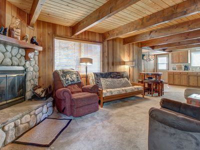 Photo for Dog-friendly mountain getaway with great location 1 block from ski shuttles