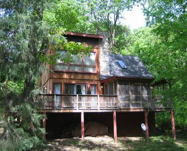 "Photo for ""Hot Tub Heaven #5 - Cabins for Rent in Front Royal, Virginia, United States"""